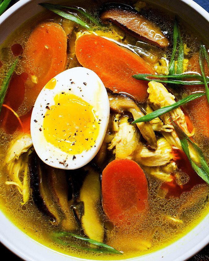 Warming Turmeric Chicken and Mushroom Soup_MidPage