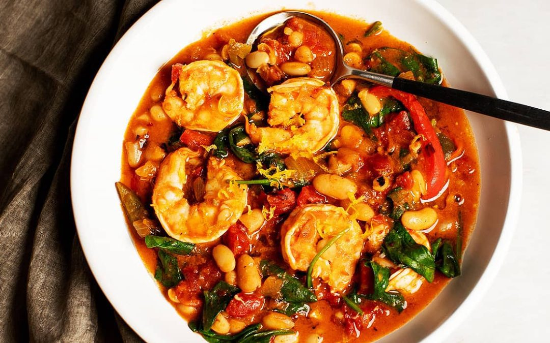 One-Pot Spicy Shrimp and Beans