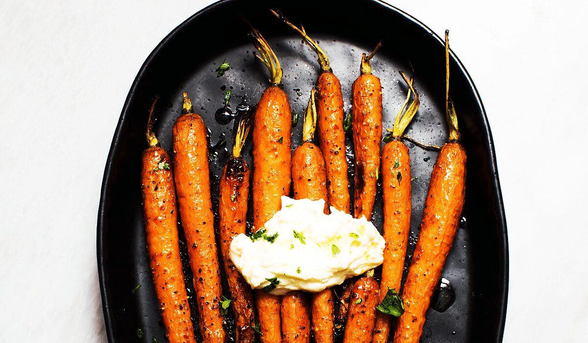 Harissa-Maple Carrots with Whipped Ricotta_Hero