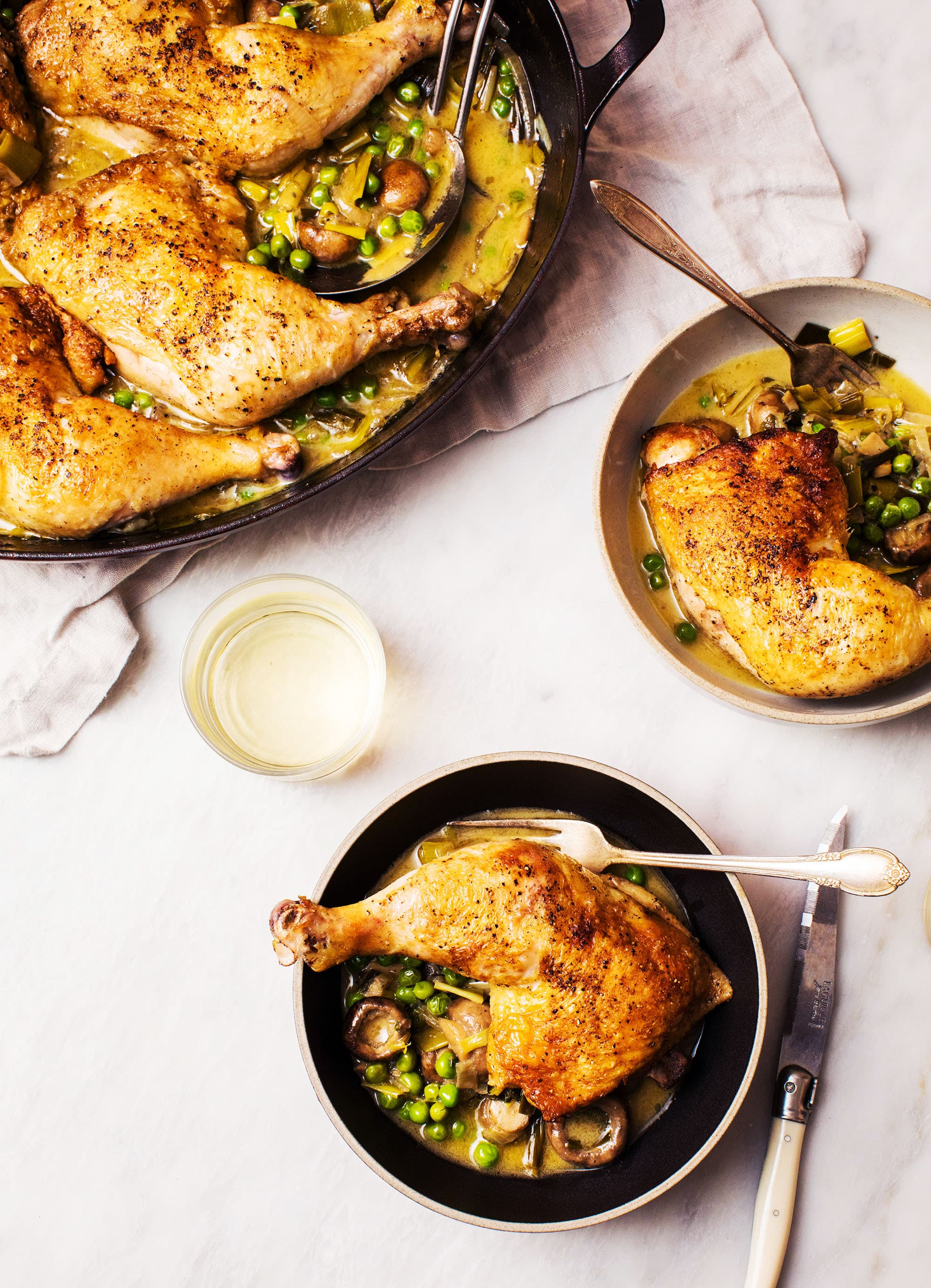 easy braised chicken and leeks recipe