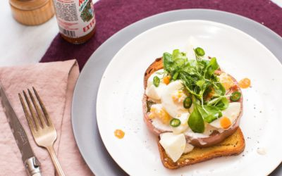 Easy, Spicy Egg Salad on Toast with Herbs