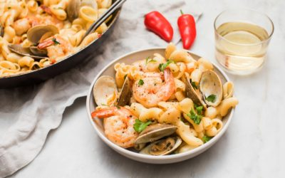 Easy Buttery Shrimp and Clam Pasta