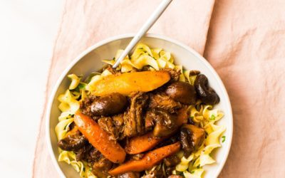 Shredded Beef Stew with Mushrooms
