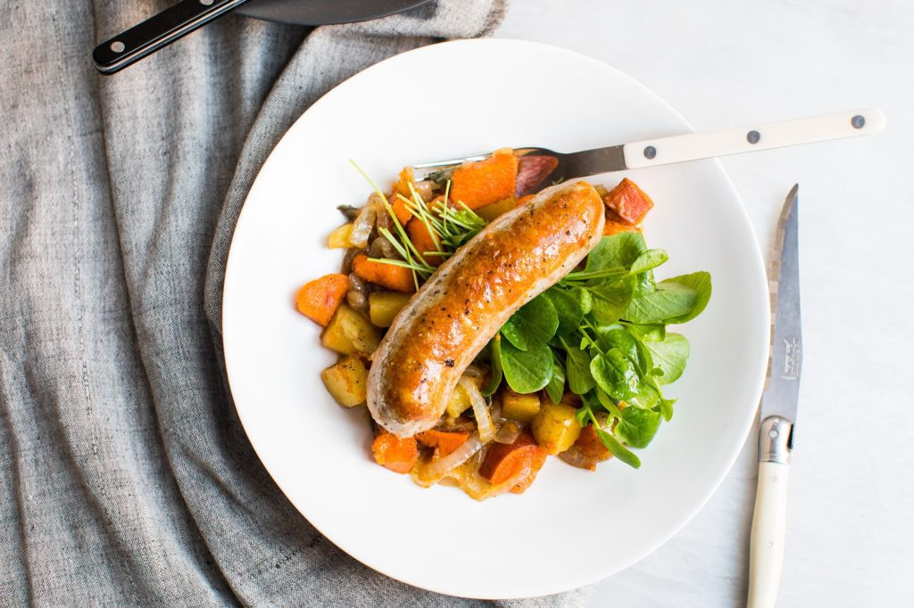 Maple-Sage Roasted Sausage and Potatoes_1