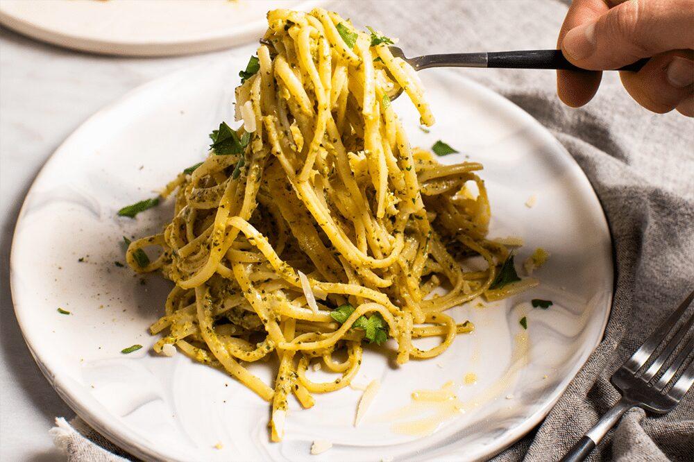 Linguine with Creamy Broccolini Sauce