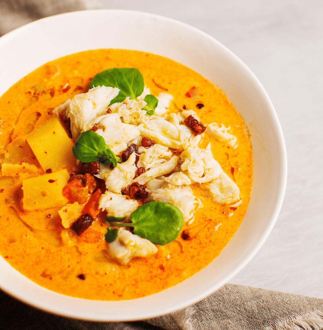 Spicy Crab Chowder with Chorizo