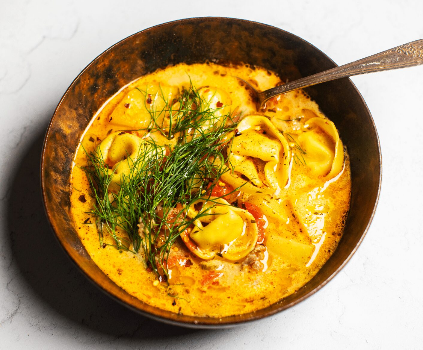 Easy Tortellini Soup with Sausage and Fennel
