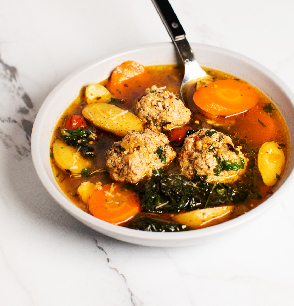 Ricotta and Pork Meatball Soup