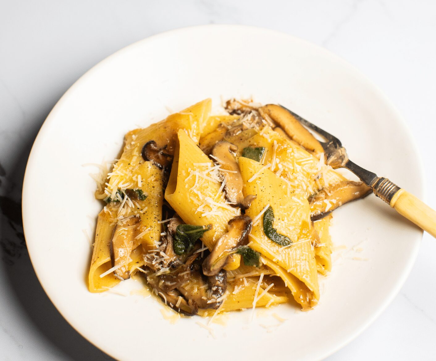 mushroom pasta with butter and sage pinterest