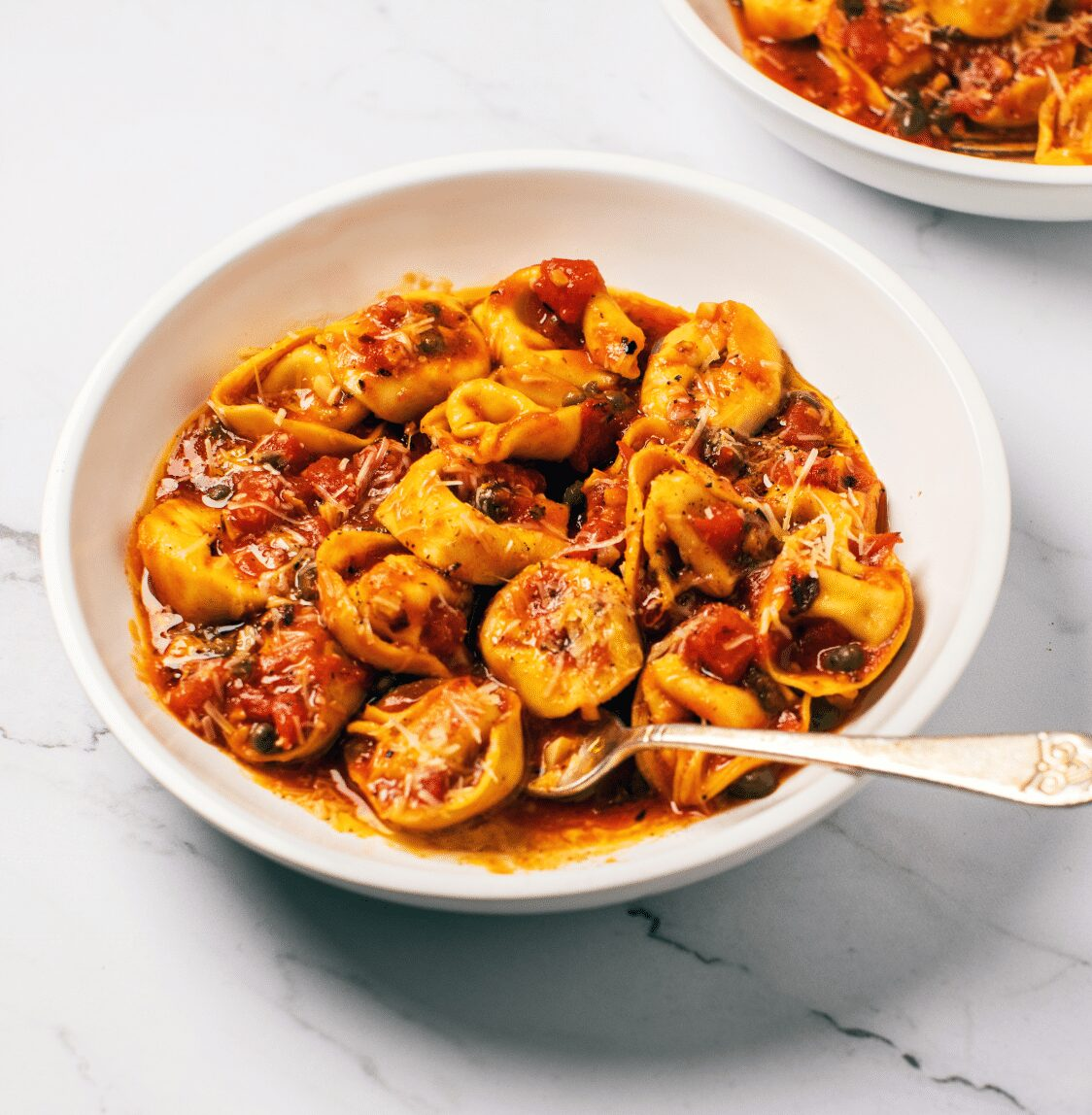 Tortellini with Spicy Brown-Butter Tomato Sauce