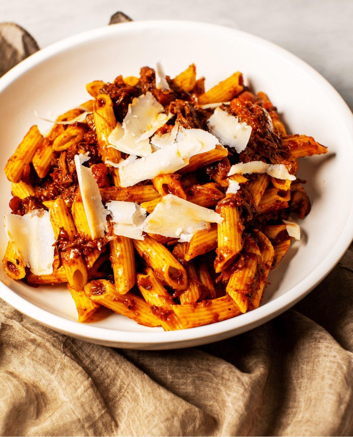 Shredded Beef and Mushroom Ragu Pinterest