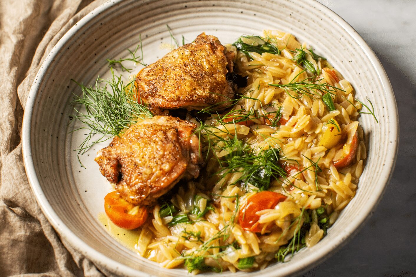 Simple Chicken and Orzo