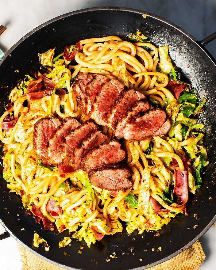 Easy Spicy Duck Yaki Udon_MidPage