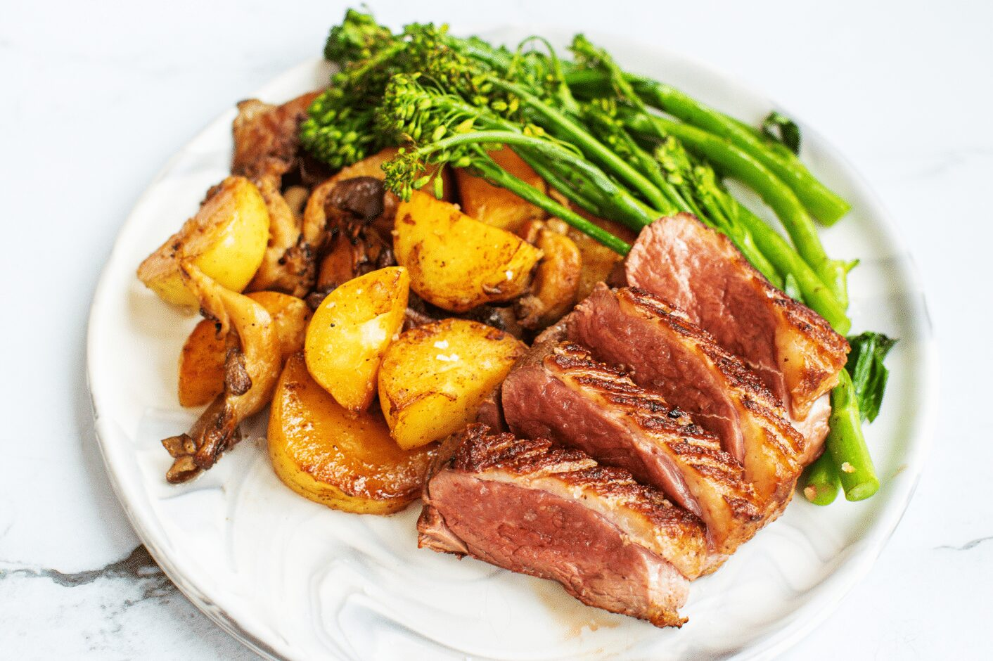Seared Duck with Duck Fat Roasted Vegetables