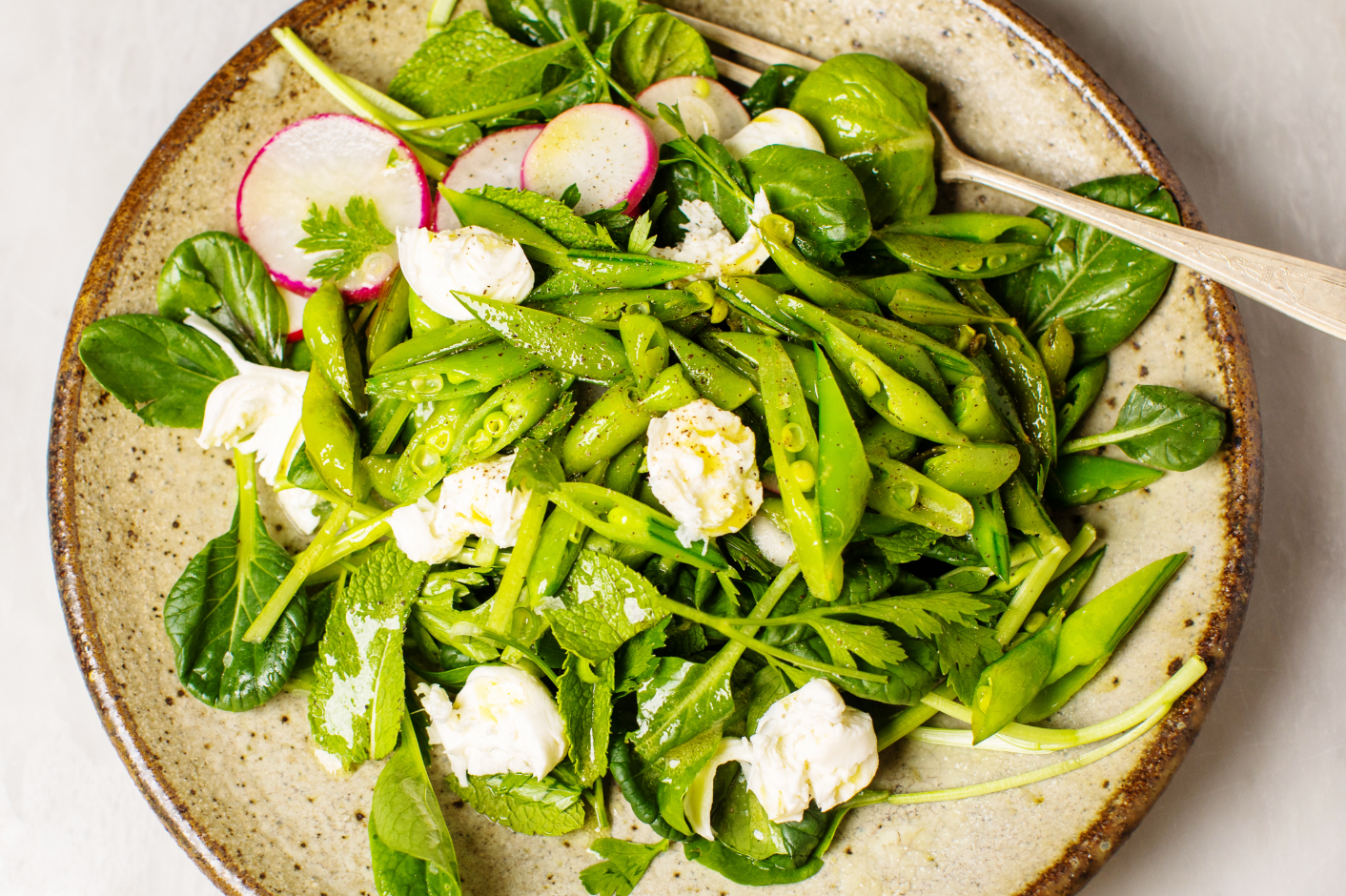 Spring Salad with Warm, Buttery Sugar Snap Peas_Hero