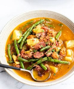 spicy ham and green beans