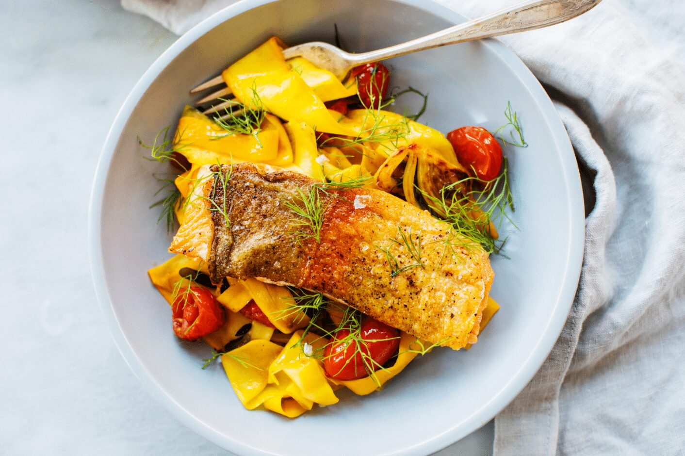 Seared Trout with Squash Pappardelle_Hero