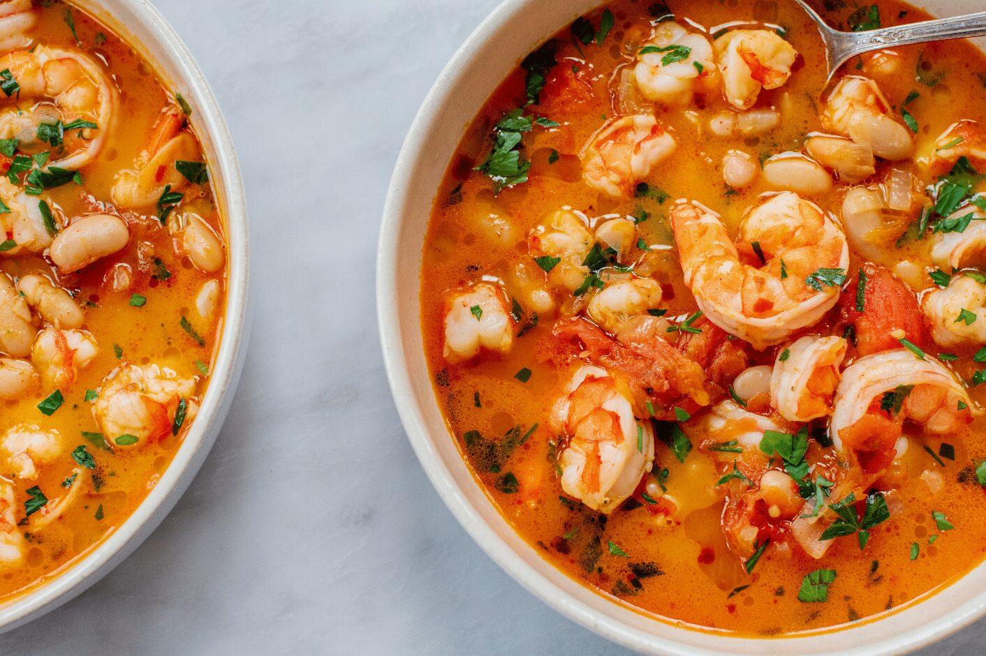 Shrimp and White Bean Soup_Hero