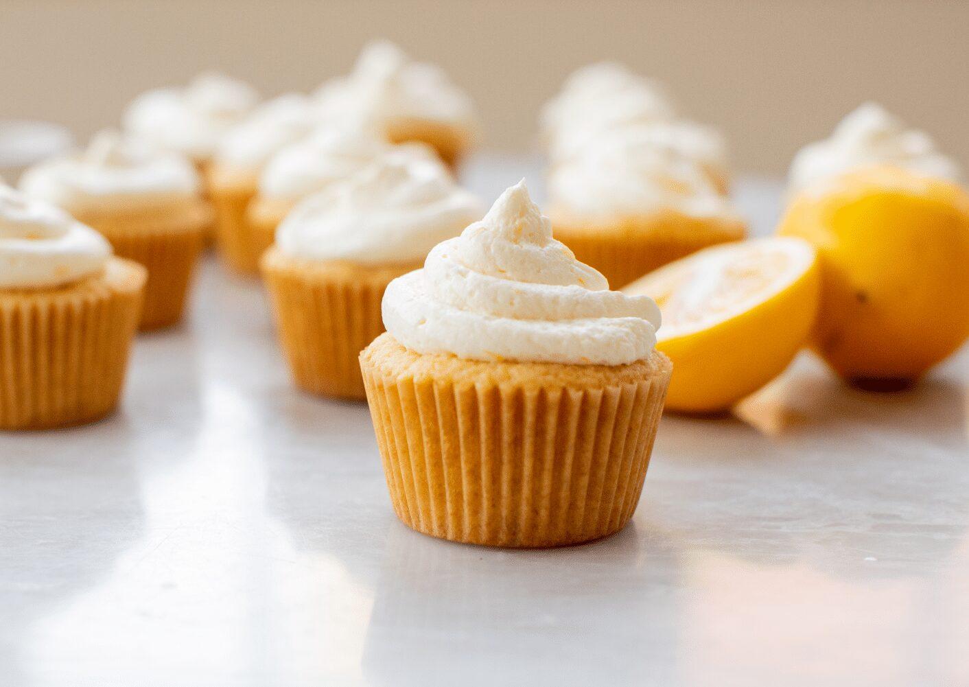 Vanilla Cupcakes with Lemon Buttercream_Hero