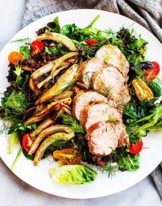 Roast Pork Salad with Fennel