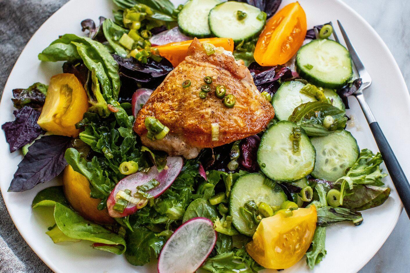Crispy Thai Chicken Salad with Fish Sauce Vinaigrette_Hero
