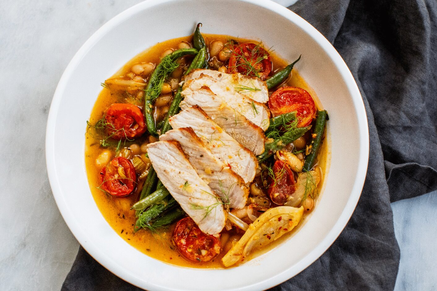 Pork and Green Beans in Fennel-Tomato Broth _Hero