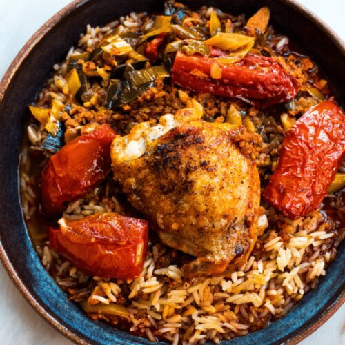 Roast Chicken with Chorizo and Leeks_Hero