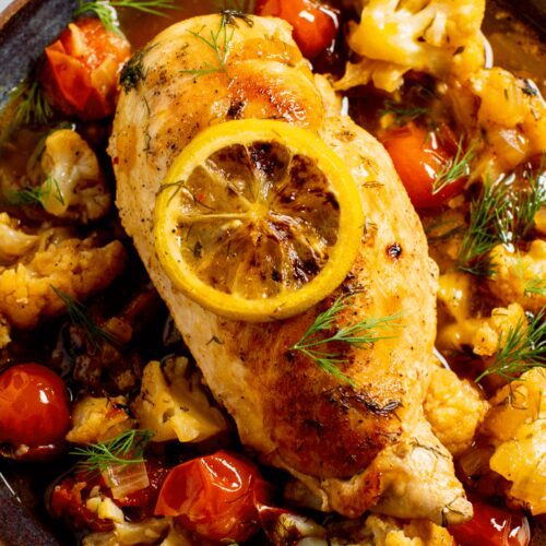 Lemon-Dill Chicken with Cauliflower