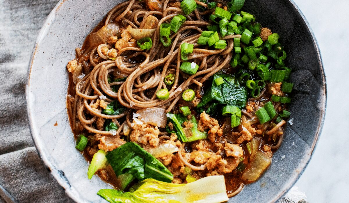 Spicy Pork and Soba Noodles_Hero