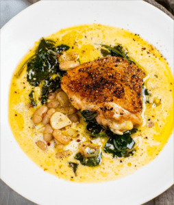 Chicken with Creamy Beans and Greens_MidPage