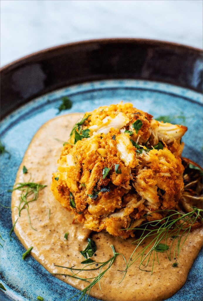 Easy Crab Cakes with Fennel Cream_MidPage