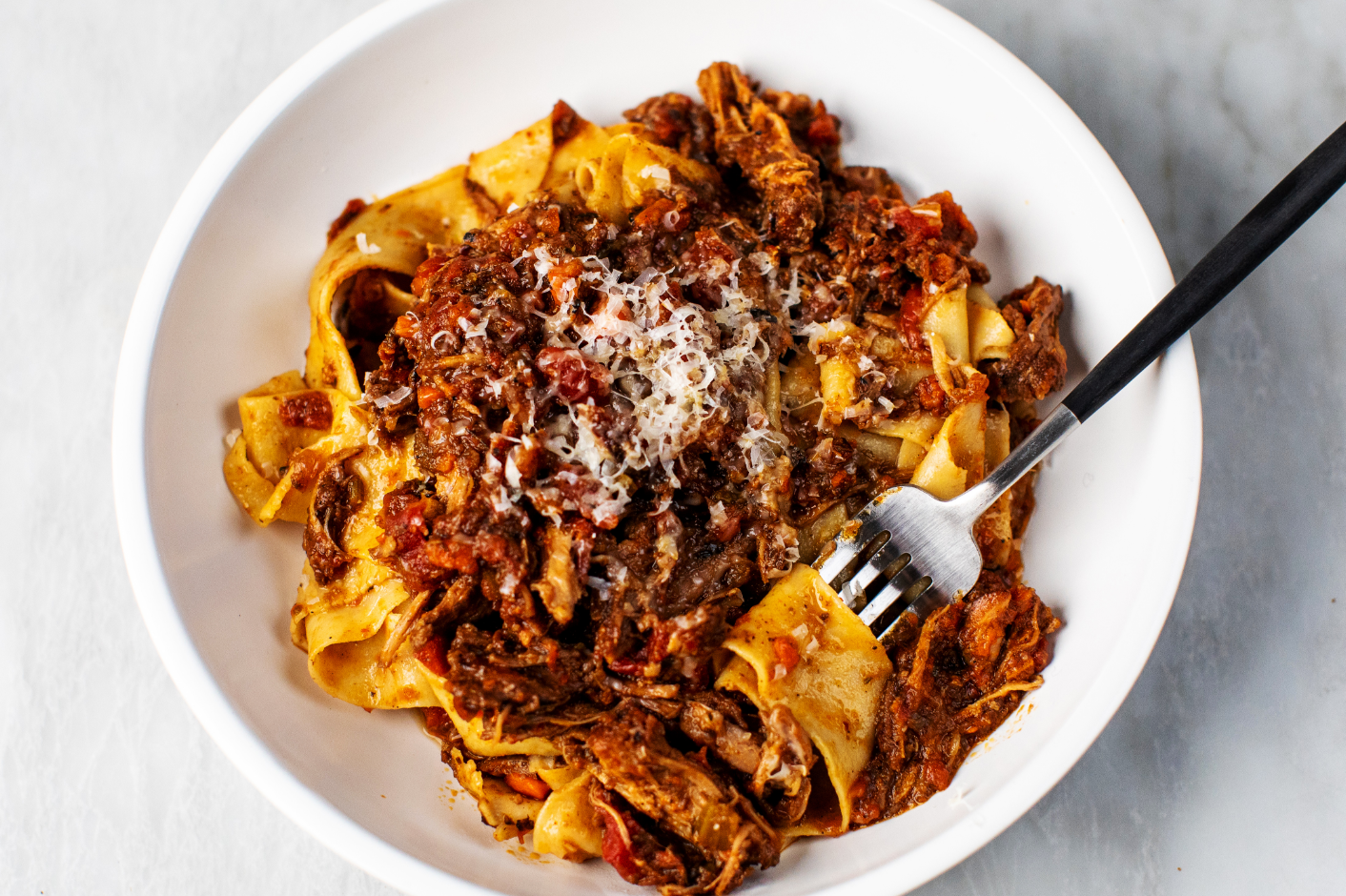 Homemade Pappardelle Pasta with Meat Ragu_Hero