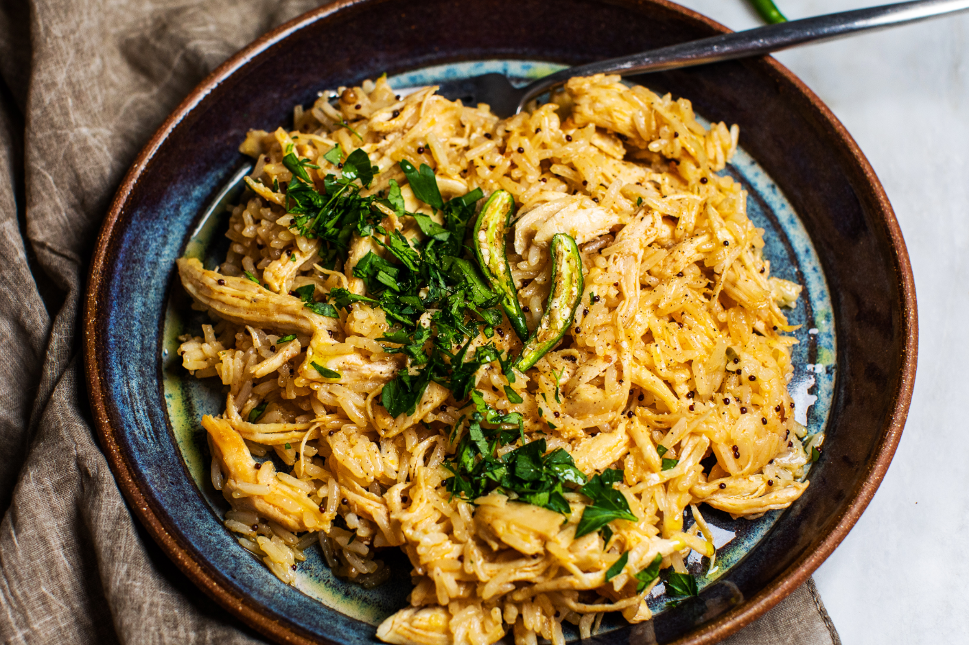 One-Skillet Spicy Chicken and Rice_Hero
