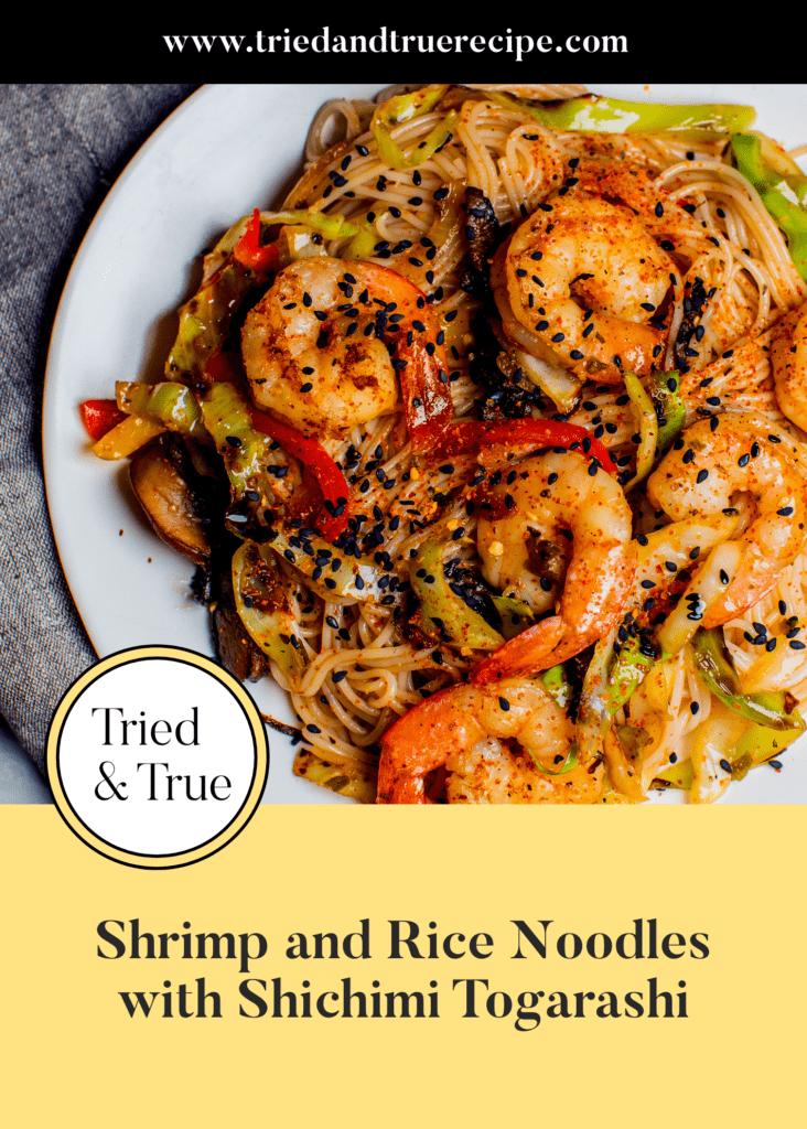 Shrimp and Rice Noodles with Shichimi Togarashi_Pinterest