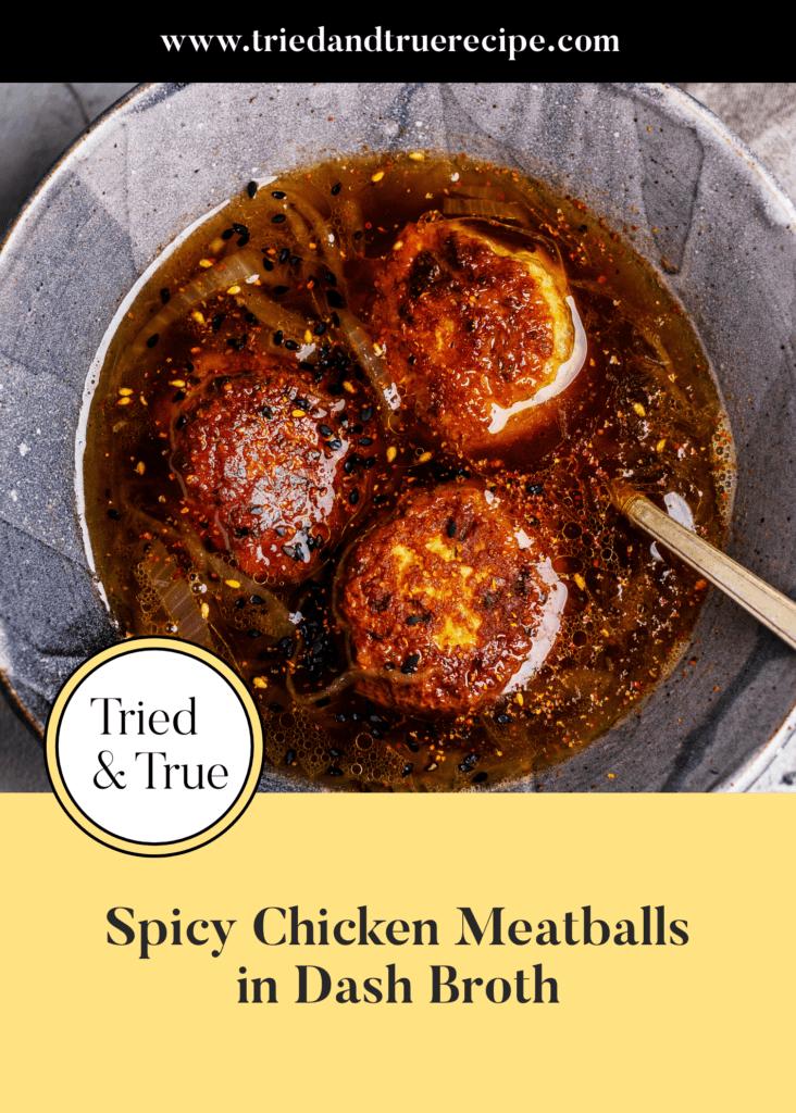 Spicy Chicken Meatballs in Dashi Broth_Pinterest
