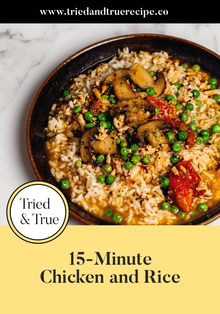 15-Minute Chicken and Rice_Pinterest
