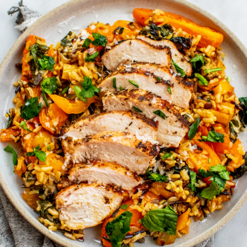 Basil-Parmesan Chicken and Rice with Tomatoes_Hero