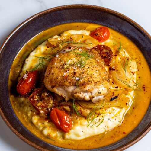 Roast Chicken and Fennel with Mashed Potatoes_MidPage