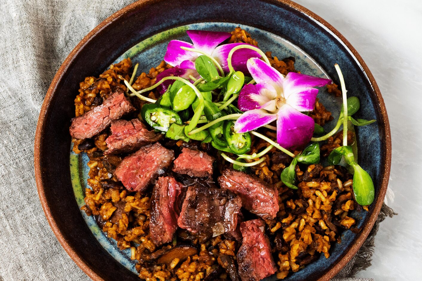 Skirt Steak with Spicy Rice and Beans._Hero