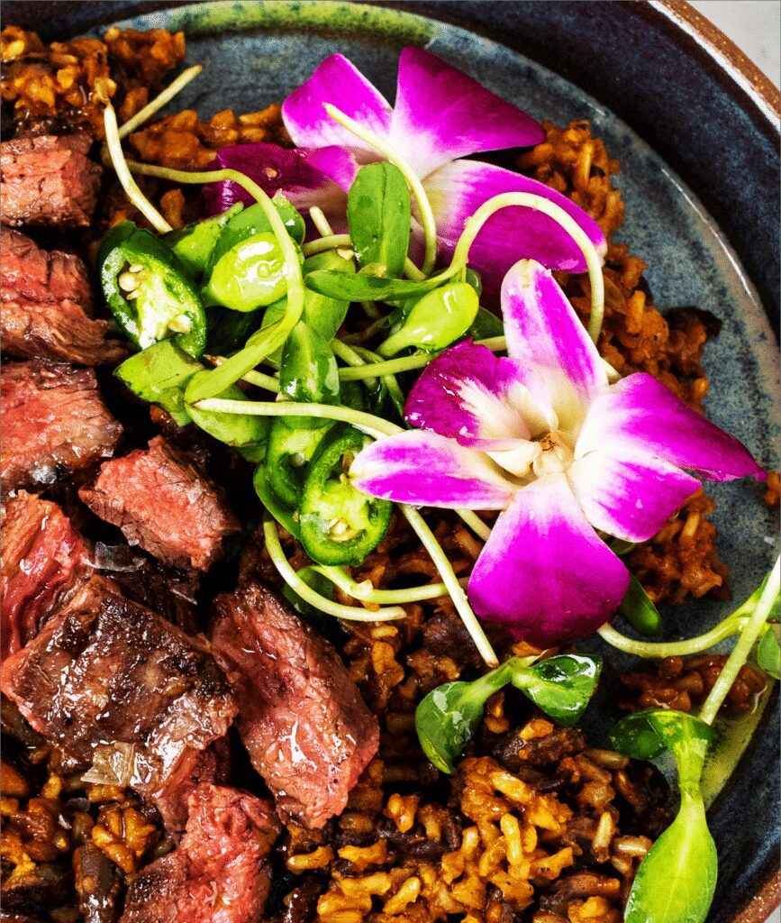 Skirt Steak with Spicy Rice and Beans_MidPage