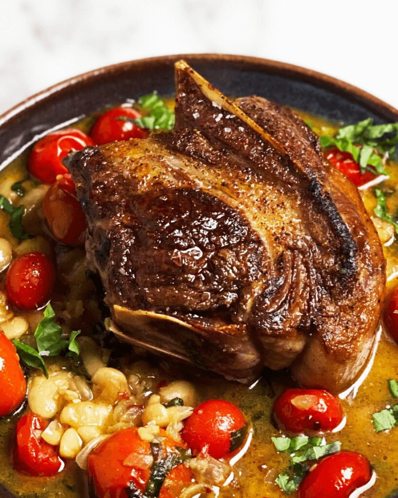 Lamb Chops with Butter Beans_MidPage