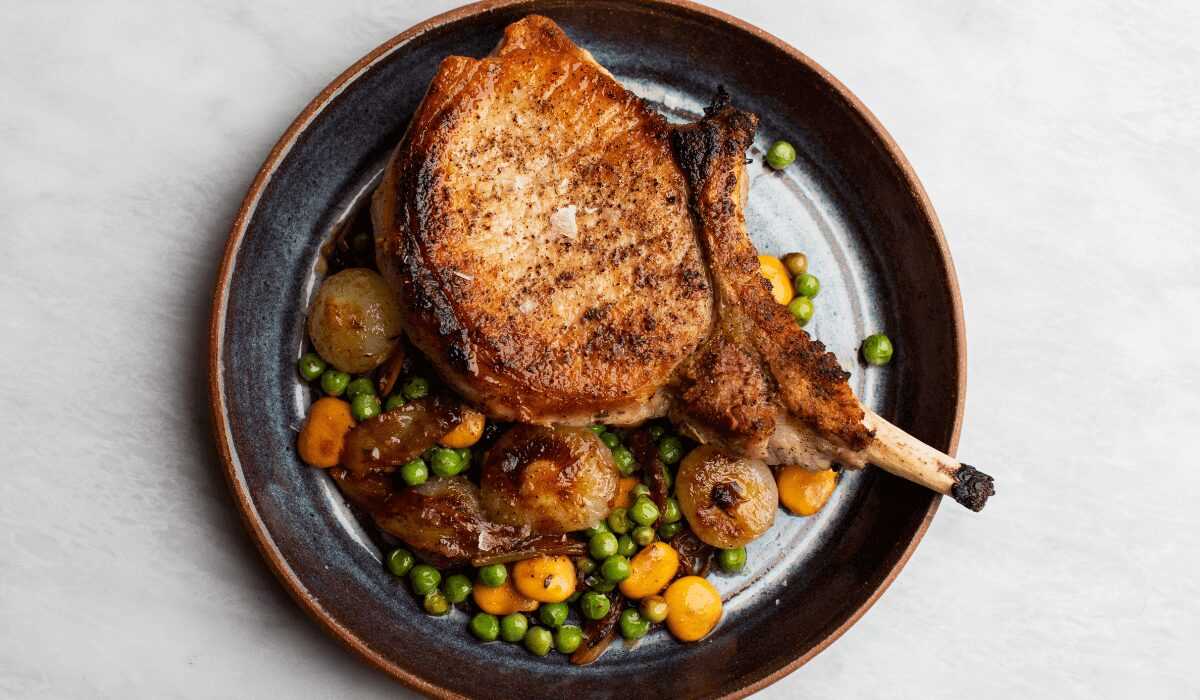 Pork Chop with Beans and Peas_Hero