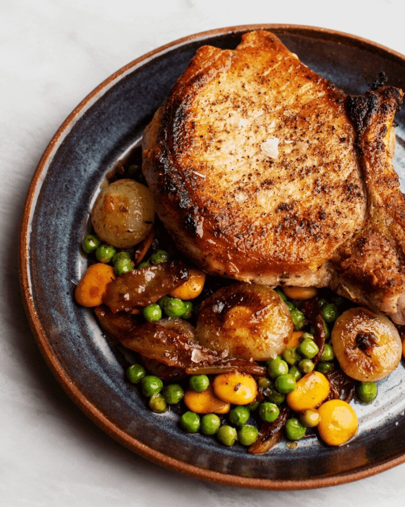 Pork Chop with Beans and Peas_MidPage