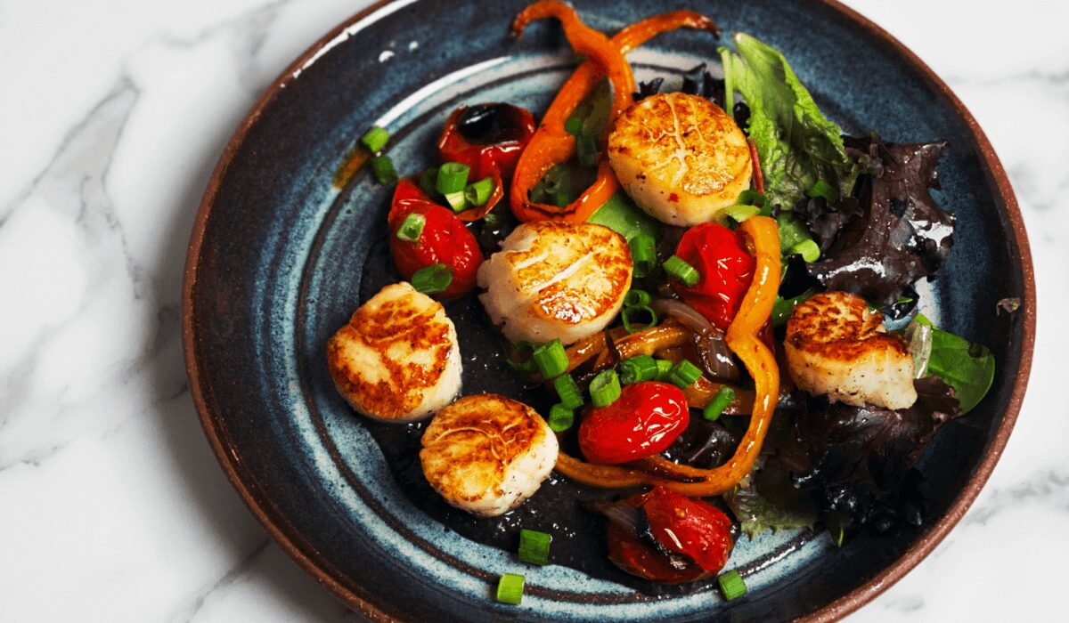 Scallops and Charred Vegetables with Huitlacoche_Hero