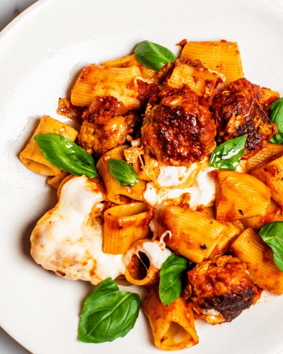 Baked Rigatoni with Ricotta Meatballs_MidPage