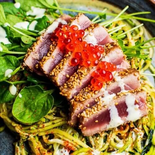 Zucchini Soba Salad with Seared Tuna_MidPage