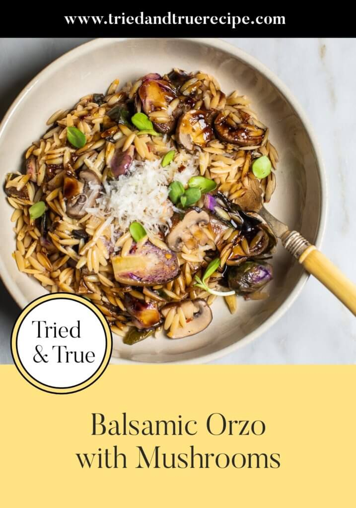 Balsamic Orzo with Mushrooms_Pinterest
