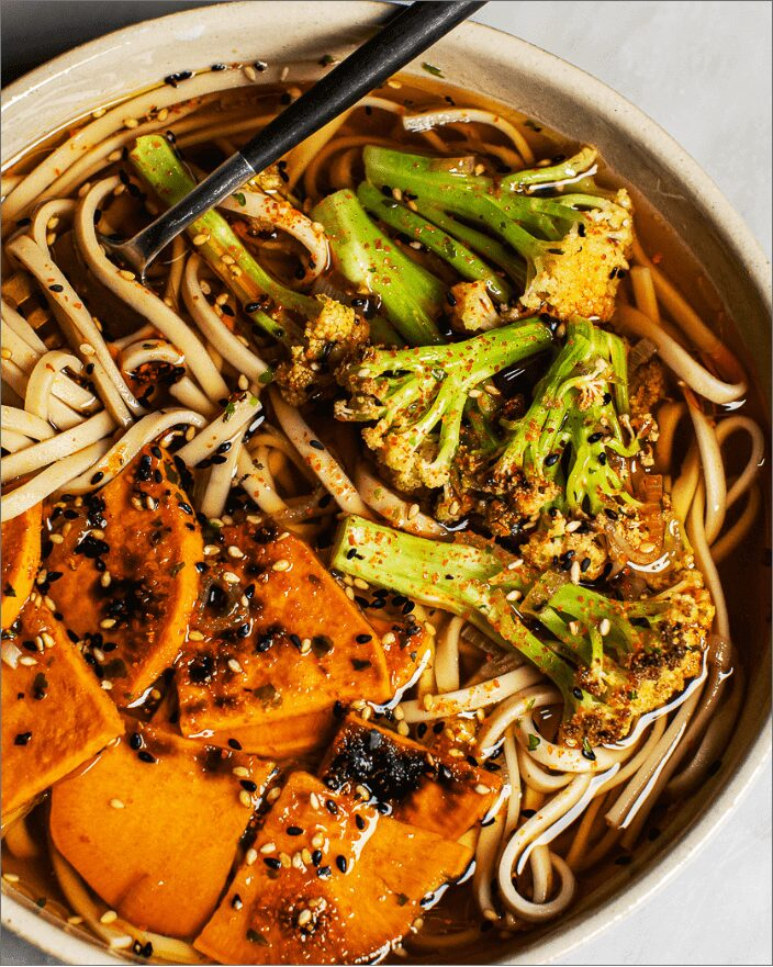 Easy Vegetable Udon Noodle Soup_MidPage