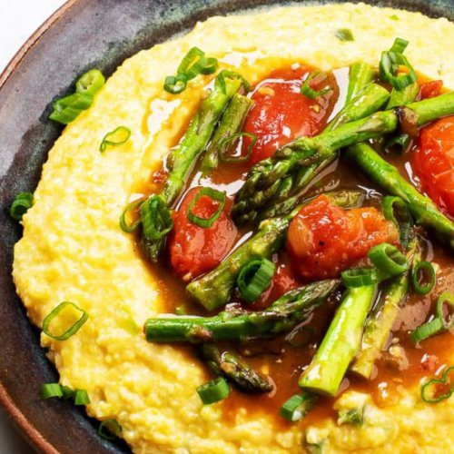 Spicy Asparagus with Cheesy Grits_MidPage