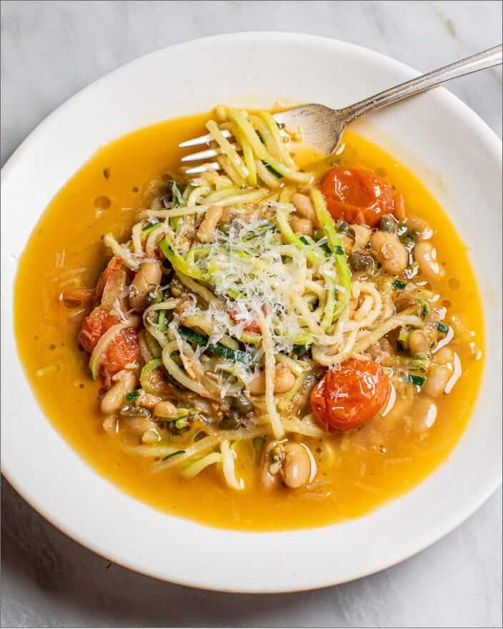 Zucchini Noodles in Tomato-Caper Broth_MidPage